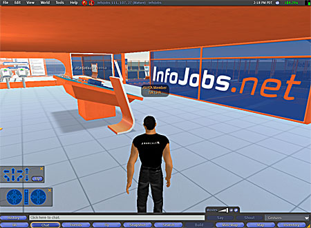 Infojobs second Life